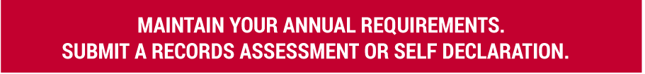 Maintain your annual requirements.
